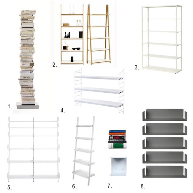 5 minimal bookshelves