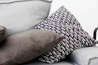 textured sofa details