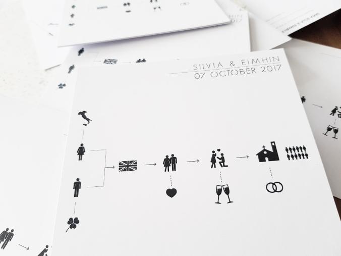 minimal wedding invite